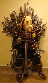 Hand of the King (made from balloons) by Rupert-Appleyard