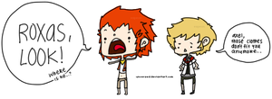 axel and roxas by unversed