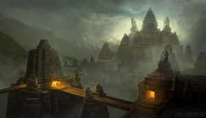 Monkey Temple by georgejohnstone