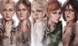 SnK Girls by putemphasis