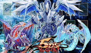 Dragons of the Ice Barrier Yugioh Playmat by Aquanios