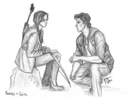 katniss and gale by untroubledheart