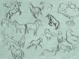 Animal Gestures by Clairictures