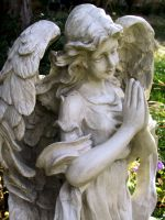 Praying Angel Statue 1 by Falln-Stock