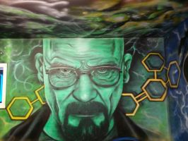 Walter White finished wall mural by ToonGritty