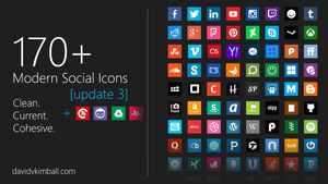 Modern Social Media Icons by davidvkimball