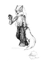 Anthro-Arcanine by Minas-the-Inkwolf