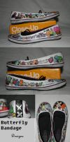 custom shoes by unappreciatedart