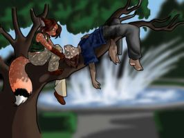 :Hang-out Tree: by amberfoxwing