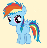 Baby-Rainbow Dash by DioxiB