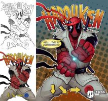 Deadpool Hadouken by RecklessHero