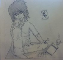 L Deathnote Sketch 12 by gigibecker
