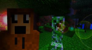 Minecraft Creeper Wallpaper by IsaacArtHampshire