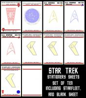 STAR TREK Stationery Selection by Carthoris
