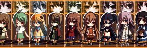 Chibi Bookmark Set by Kouken