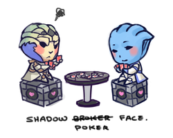 Shadow Poker Face by StellarStateLogic