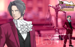 Miles Edgeworth Demon Attorney by RafaellaKeiko