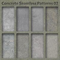 Concrete Seamless Patterns 02 by bosanza
