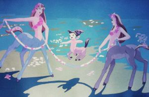 Centaur Girls-Fantasia fan art by FlapperFoxy