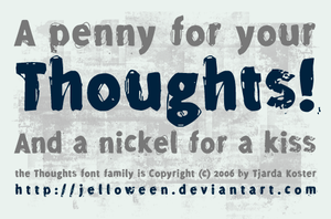 Font: THOUGHTS - demo by jelloween