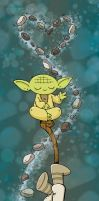 Yoda and Luke by katiecandraw