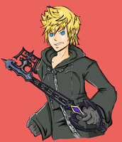 Roxas Button by TheRueRoyale