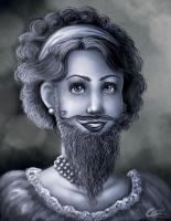 The amazing Bearded Lady by Akriel