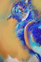 Blue Police Box Bird painting by cydienne