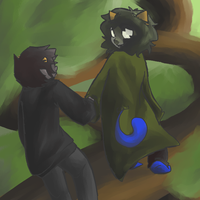 Walking up a tree is fun. by squidForager