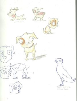 Timmy the Timid Little Dog by Decemberian