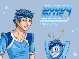 rb: Buddy Blue and Champ by freetre