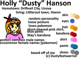 Dusty's character reference by Dustyfootwarrior