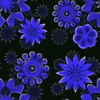 Blue Bloom Flower Fabric by mharieckit