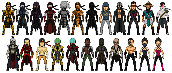 Mortal Kombat Redesign Part 3 by Melciah1791