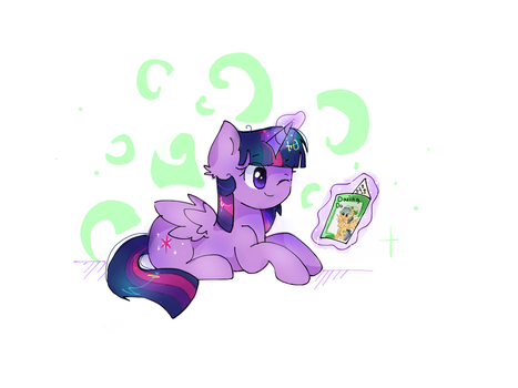 Comission - Twily reading by PinkFlutter
