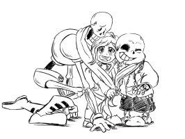 Gift- Papyrus's scarf hug by unknown-gifter