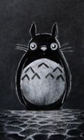 Chalk/Charcoal : My Friendly Neighbor Totoro by vt2000