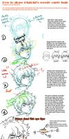 Tutorial: how to draw Gintoki's messy curly hair by CitrusGun