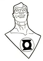 Green Lantern Headshot by Gaston25