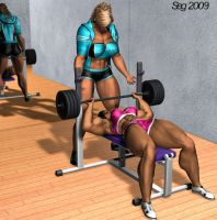 Lyn and Kara Lifting by GRISSSE