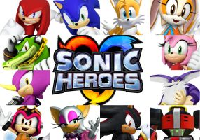 Sonic Heroes by HalloweenLover316