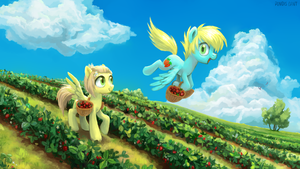 Strawberry field by pondis-dant