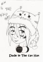 Dude in the cat hat by Keiko-san