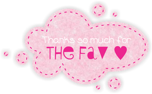 Fav Button 3 large - Pastel Pink by SammyJackles