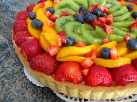 Traditional Fruit Flan by bloookkkerschtufin