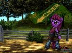Berry Punch Sign Spinner by MetaDragonArt