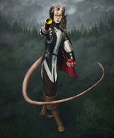 Oriax - Tiefling Psion Portrait by Shooter--Andy