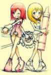 Chibi Kairi and Namine by Mikeinel