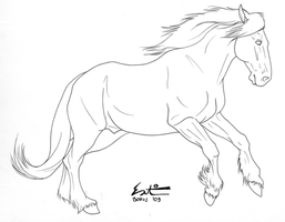 Free Draft Lineart by green-ermine
