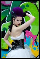 Punky Grafitti Bride 3 by JenHell66